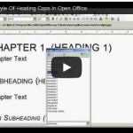 How to Modify Open Office & Word Header Style To Caps