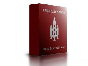 4 week planner business boost