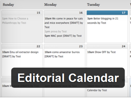 wordpress editorial calendar plugin