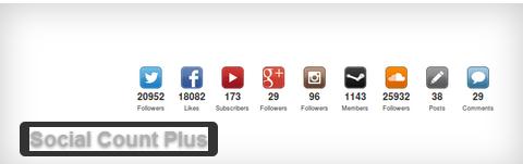 Social count plugin