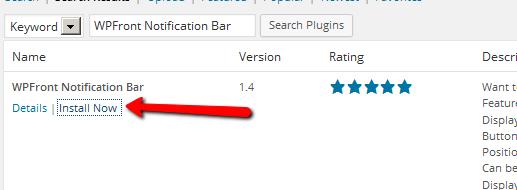 WPFront_Notification_bar